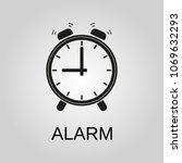 alarm icon. alarm symbol. flat... | Shutterstock .eps vector #1069632293