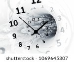 time. abstract 3d illustration | Shutterstock . vector #1069645307