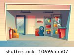 vector cartoon illustration of... | Shutterstock .eps vector #1069655507