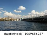city of istanbul on a cloudy day   Shutterstock . vector #1069656287