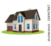 vector illustration of house | Shutterstock .eps vector #106967867