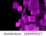 abstract composition from 3d... | Shutterstock . vector #1069693217