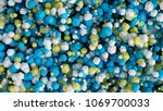 geometric particle multicolor... | Shutterstock . vector #1069700033