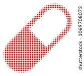 medication granule halftone... | Shutterstock .eps vector #1069708073