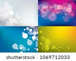 out of focus blurred lights... | Shutterstock .eps vector #1069712033