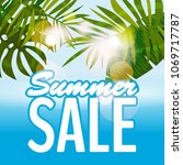 sale summer banner  poster with ...   Shutterstock .eps vector #1069717787