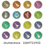 string instruments web icons in ... | Shutterstock .eps vector #1069721933