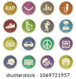 rap web icons in the form of... | Shutterstock .eps vector #1069721957