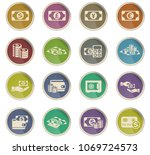 money symbols vector icons in... | Shutterstock .eps vector #1069724573