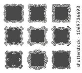 classic frame set with... | Shutterstock .eps vector #1069736693