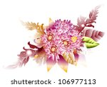 background with floral... | Shutterstock .eps vector #106977113