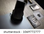 smartphone on the dock at store | Shutterstock . vector #1069772777