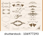 calligraphic design elements... | Shutterstock .eps vector #106977293