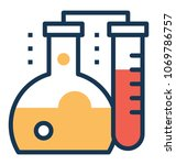 chemical research laboratory ... | Shutterstock .eps vector #1069786757
