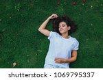 young beautiful woman sleeping... | Shutterstock . vector #1069795337