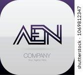 logo letter combinations a  e... | Shutterstock .eps vector #1069812347