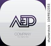 logo letter combinations a  e... | Shutterstock .eps vector #1069812353