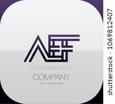 logo letter combinations a  e... | Shutterstock .eps vector #1069812407