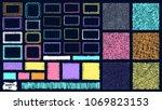 scribble patterns set. doodles... | Shutterstock .eps vector #1069823153