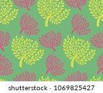 a seamless botanical pattern... | Shutterstock .eps vector #1069825427