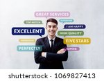 customer experience concept.... | Shutterstock . vector #1069827413