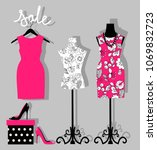 illustration of a dress on a... | Shutterstock .eps vector #1069832723