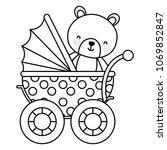 line bear teddy animal inside... | Shutterstock .eps vector #1069852847