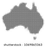 australia map halftone vector... | Shutterstock .eps vector #1069865363