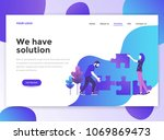 landing page template of we... | Shutterstock .eps vector #1069869473