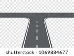 road. t intersection. element... | Shutterstock .eps vector #1069884677