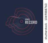 poster of the vinyl record.... | Shutterstock .eps vector #1069888763