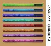 set of 8 navigation bars for... | Shutterstock .eps vector #106989197
