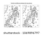 space exploration themed find... | Shutterstock .eps vector #1069896797