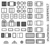 windows icon set. window types... | Shutterstock .eps vector #1069899017