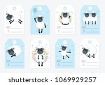 vector collection of tags with...   Shutterstock .eps vector #1069929257