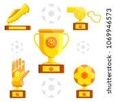football soccer sports awards... | Shutterstock .eps vector #1069946573