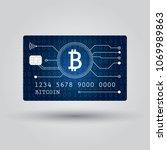 bitcoin debit card. account ... | Shutterstock .eps vector #1069989863