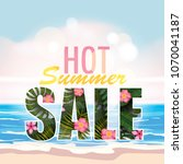 sale summer banner  poster with ...   Shutterstock .eps vector #1070041187