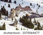 aerial image of timberline...   Shutterstock . vector #1070064677