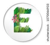 sticker. paper cut art. letter... | Shutterstock . vector #1070066933