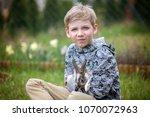 preschool child  cute boy ...   Shutterstock . vector #1070072963