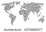 earth pattern map created of... | Shutterstock .eps vector #1070085077