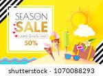 summer background with sweet... | Shutterstock .eps vector #1070088293