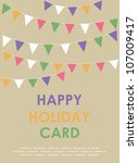 happy holiday card. vector... | Shutterstock .eps vector #107009417