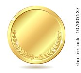 Gold Coin. Vector Illustration...