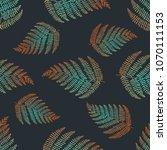 fern leaf vector seamless... | Shutterstock .eps vector #1070111153