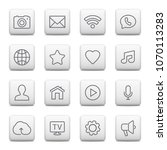 web buttons and icons for...