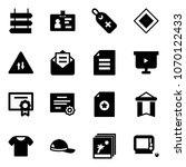 solid vector icon set   sign... | Shutterstock .eps vector #1070122433