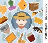 beekeeper icon.vector... | Shutterstock .eps vector #1070130677