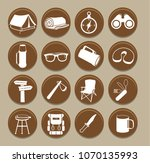 set of camping icons.vector... | Shutterstock .eps vector #1070135993